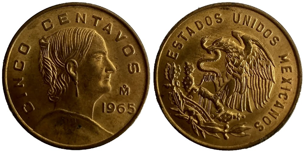 5 сентаво 1965 Мексика