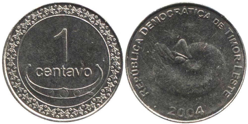 1 сентаво 2004 Восточный Тимор