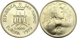 1000 лир 1979 Сан-Марино — Европа — серебро