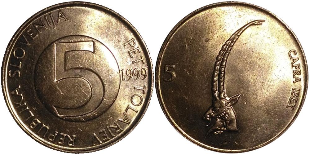 5 толаров 1999 Словения