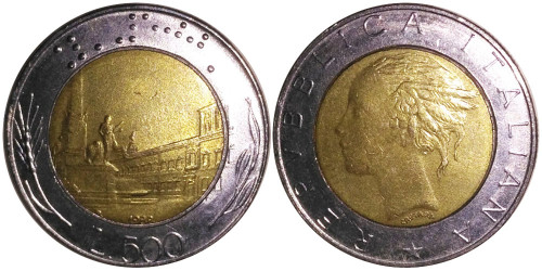 500 лир 1988 Италия