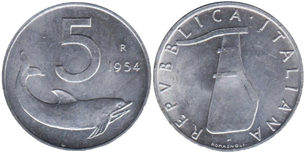 5 лир 1954 Италия