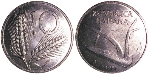 10 лир 1987 Италия