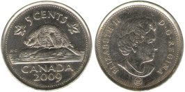 5 центов 2009 Канада