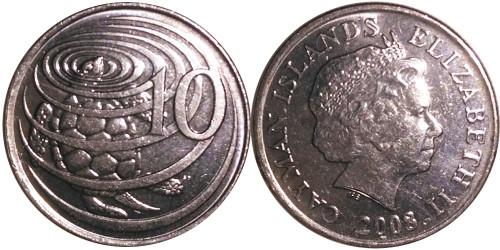 10 центов 2008 Каймановы острова UNC