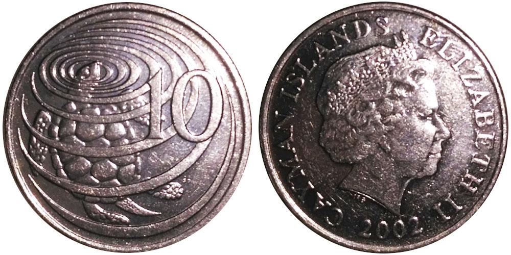 10 центов 2002 Каймановы острова UNC