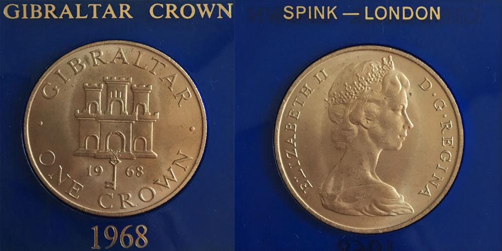 1 крона 1968 Гибралтар