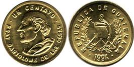 1 сентаво 1994 Гватемала UNC