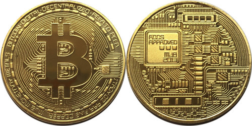 Сувенирная монета Биткоин — Bitcoin без капсулы