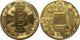 Сувенирная монета Биткоин — Bitcoin в капсуле