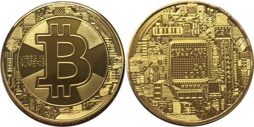 Сувенирная монета Биткоин — Bitcoin 2018 без капсулы