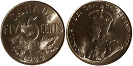 5 центов 1922 Канада