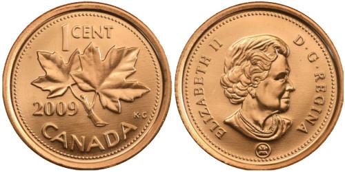 1 цент 2009 Канада
