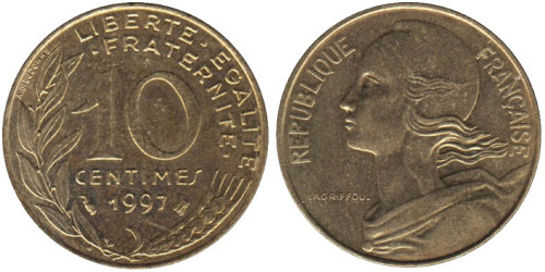 10 сантимов 1997 Франция
