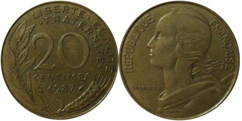 20 сантимов 1987 Франция