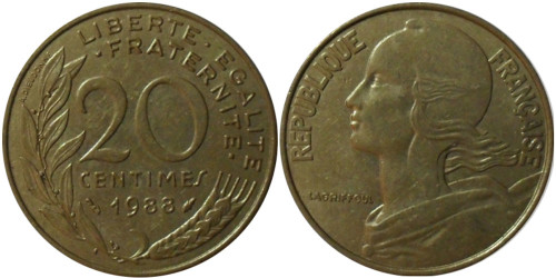 20 сантимов 1988 Франция