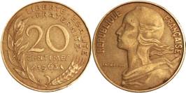 20 сантимов 1963 Франция