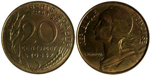 20 сантимов 1983 Франция