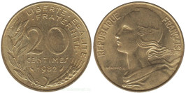 20 сантимов 1982 Франция