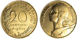 20 сантимов 1964 Франция
