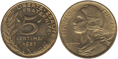 5 сантимов 1987 Франция
