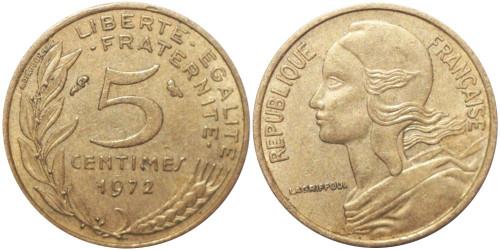 5 сантимов 1972 Франция