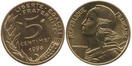 5 сантимов 1998 Франция