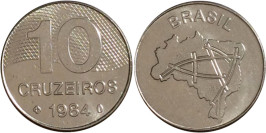10 крузейро 1984 Бразилия