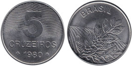 5 крузейро 1980 Бразилия