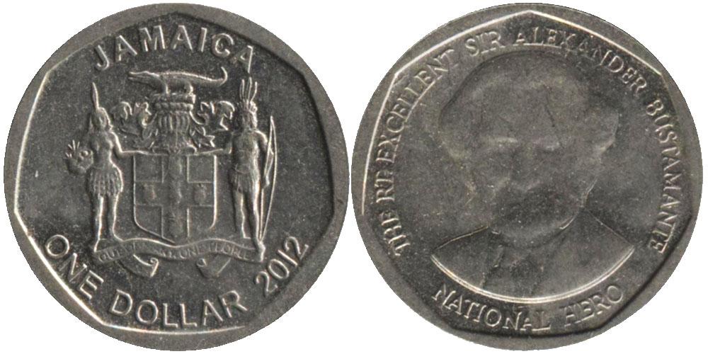 1 доллар 2012 Ямайка