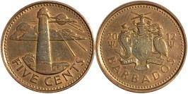 5 центов 2012 Барбадос