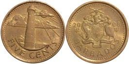5 центов 2008 Барбадос