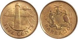 5 центов 2011 Барбадос