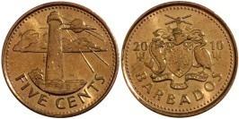 5 центов 2010 Барбадос
