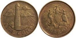 5 центов 2009 Барбадос