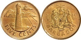 5 центов 2014 Барбадос