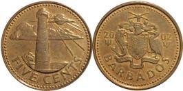 5 центов 2002 Барбадос