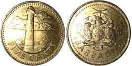 5 центов 1997 Барбадос