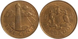 5 центов 1998 Барбадос