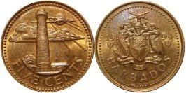 5 центов 1994 Барбадос