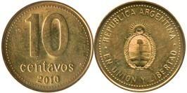 10 сентаво 2010 Аргентина