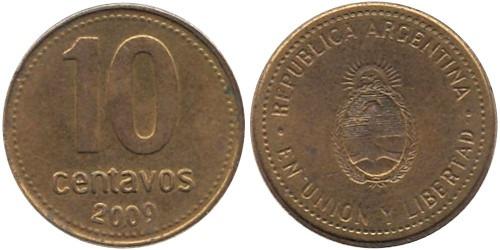 10 сентаво 2009 Аргентина