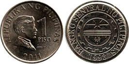 1 песо 2011 Филиппины