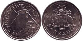 25 центов 2008 Барбадос