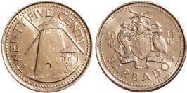 25 центов 2011 Барбадос