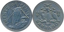 25 центов 1973 Барбадос