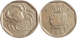 5 центов 1995 Мальта