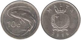 10 центов 1998 Мальта