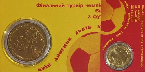 1 гривна 2012 Украина — Финальный турнир чемпионата Европы по футболу 2012 в буклете