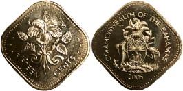 15 центов 2005 Багамские Острова UNC